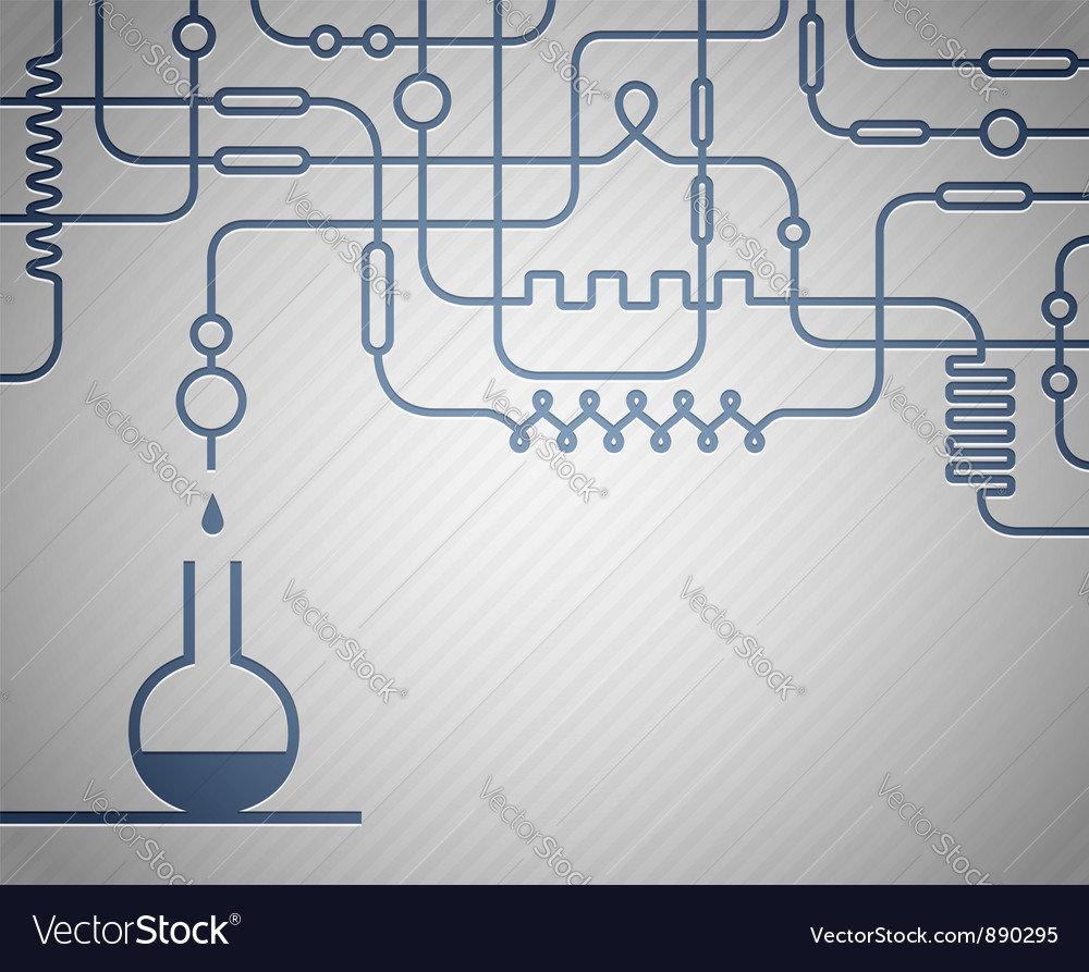 Science laboratory vector image