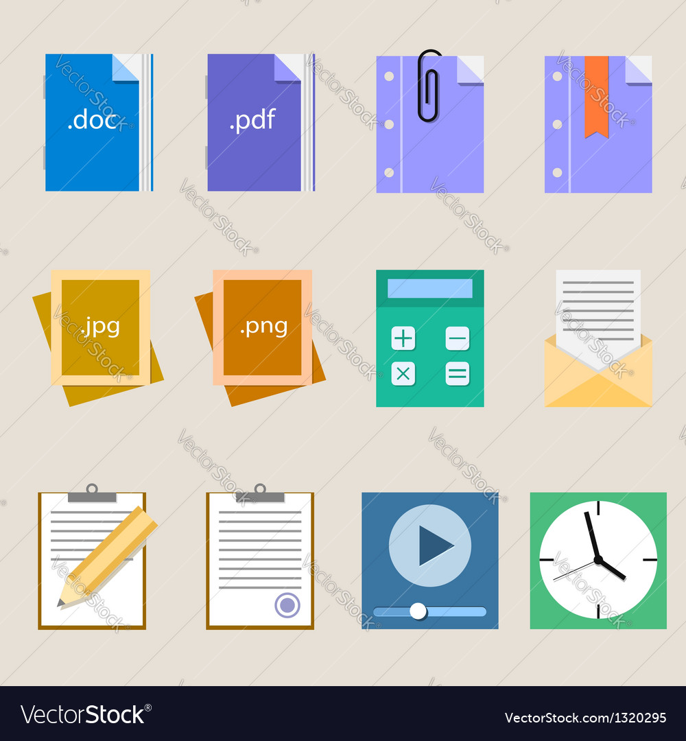 Set a simple flat icons for your design