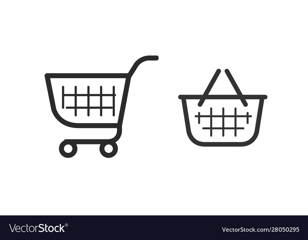 Shopping cart consumer basket icon