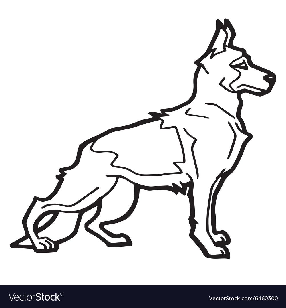 Cartoon Dog Coloring book Royalty Free Vector Image