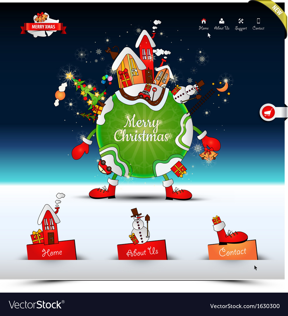 Christmas night website template