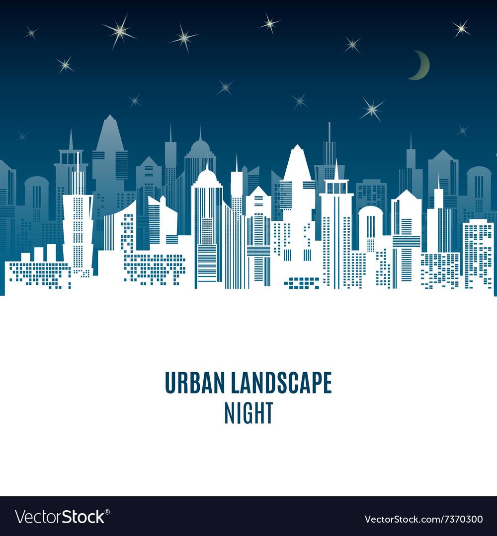 City urban design night landscape