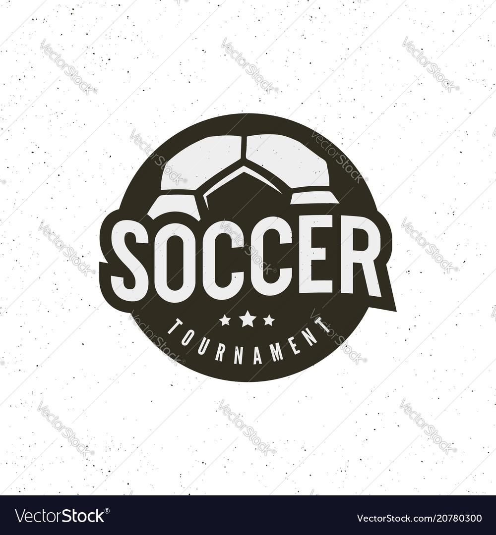 Football soccer logo sport emblem vector image