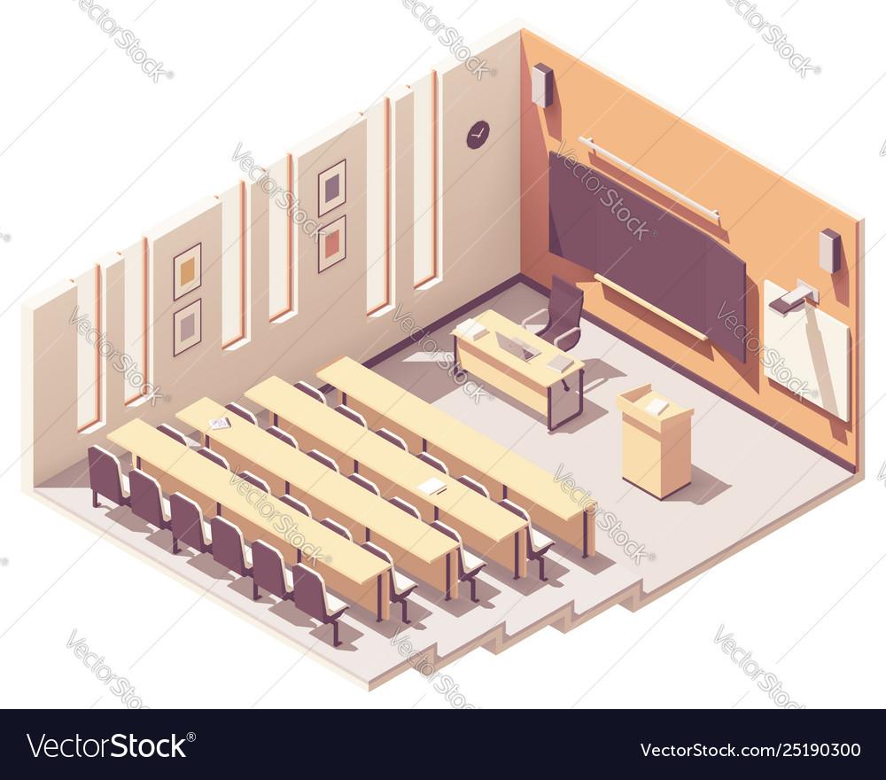 Isometric university lecture hall