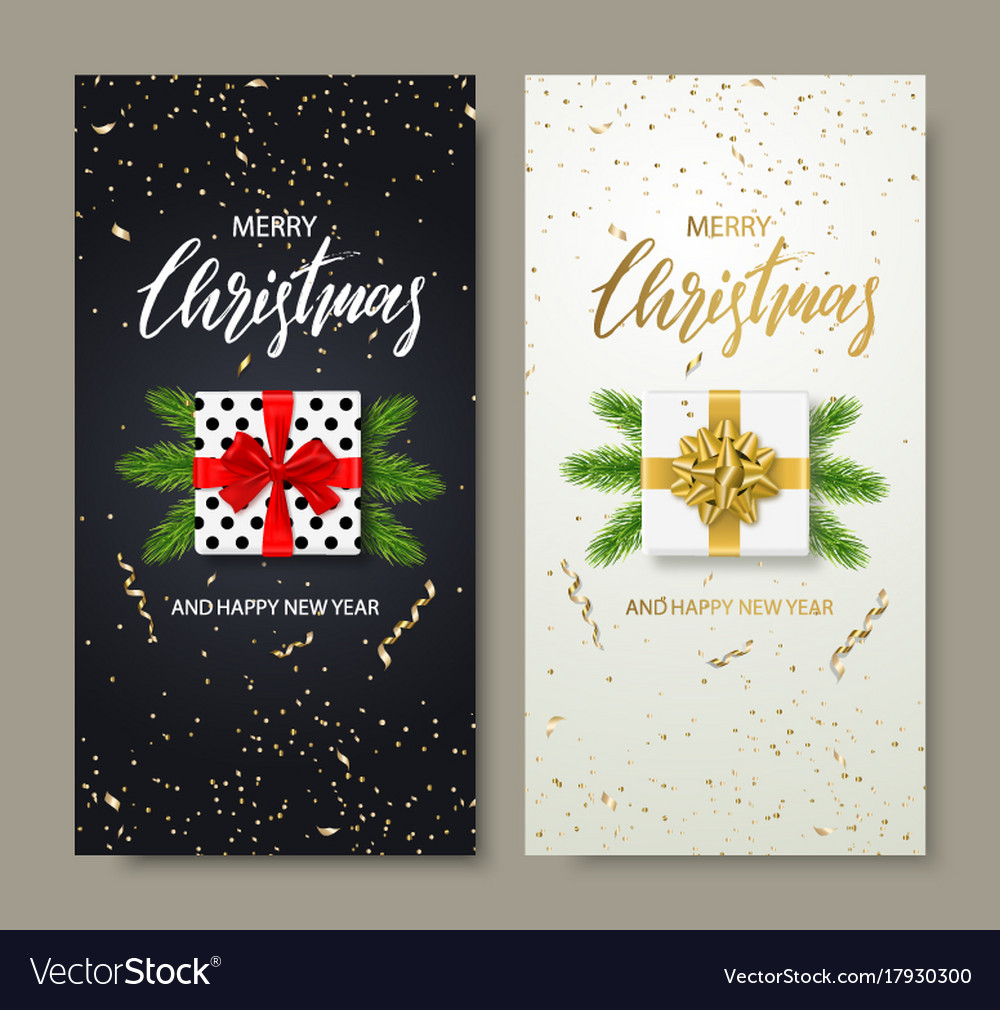 Merry christmas and happy new year backgrounds for