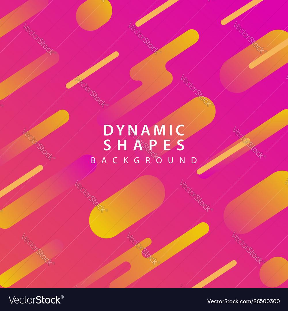 Modern dynamic shapes style background
