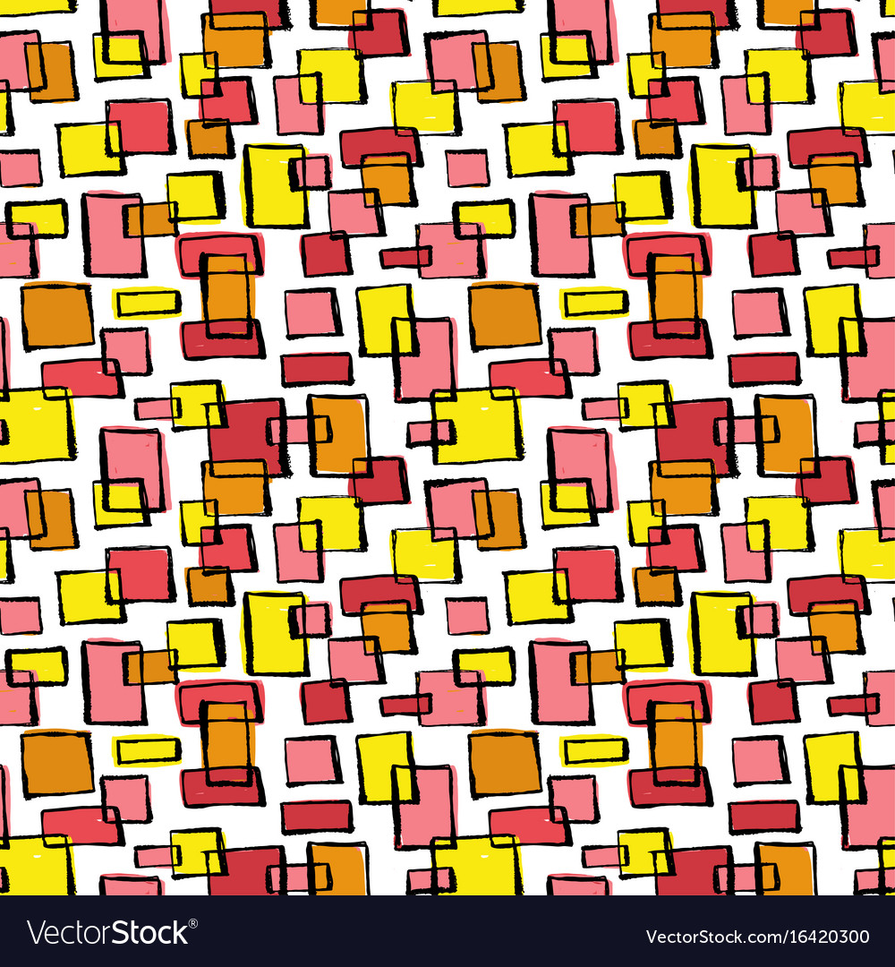 Seamless textile doodle pattern grunge texture vector image