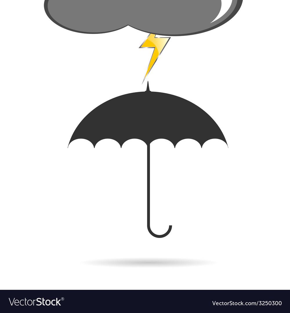 Umbrella with lightning