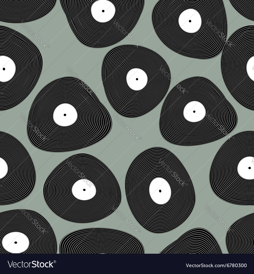Vinyl LP seamless pattern Retro music background