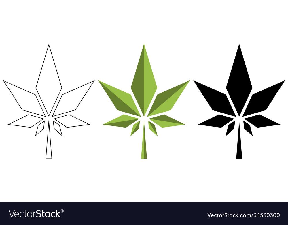 Watercolor cannabis leaf medical design