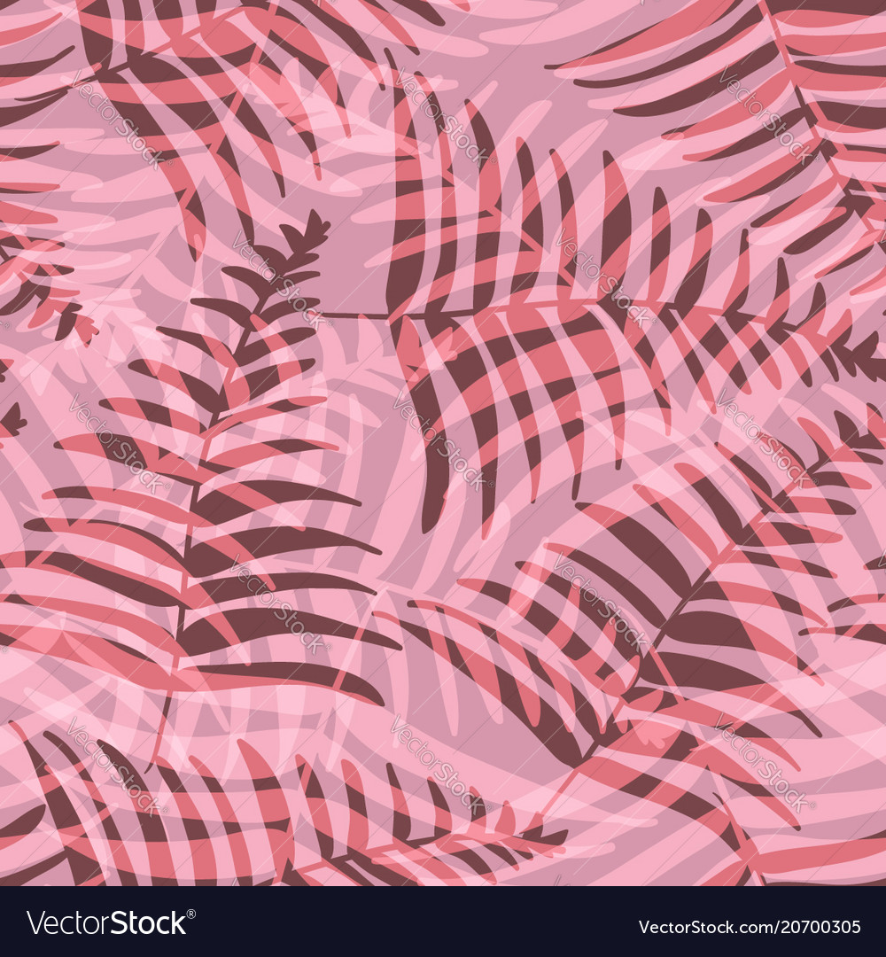 abstract red and vinous tropical leaves pattern vector image
