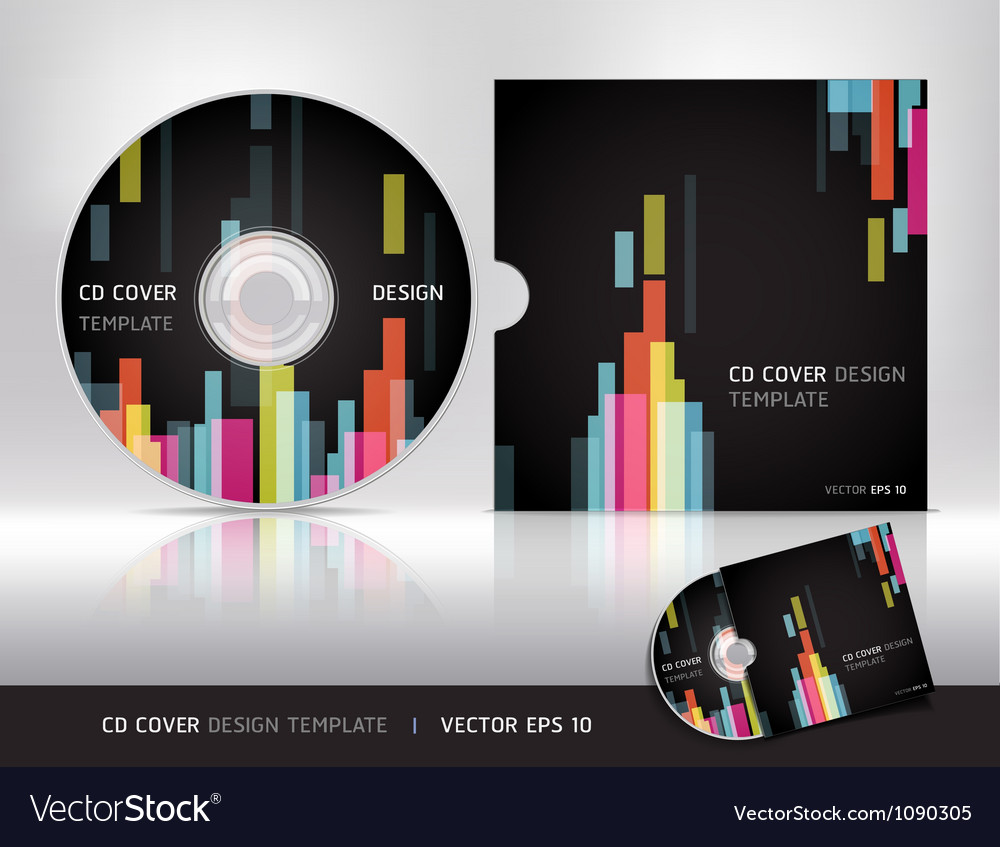 cd cover design template royalty free vector image