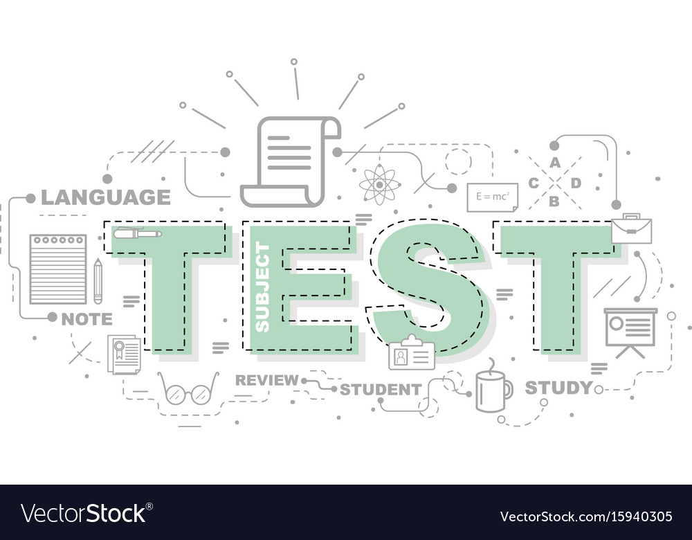 Design concept of word test website banner