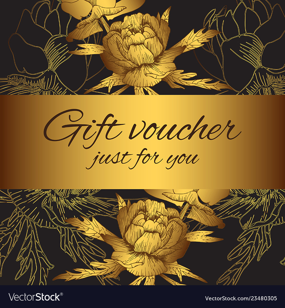 Gift voucher flower silhouettes