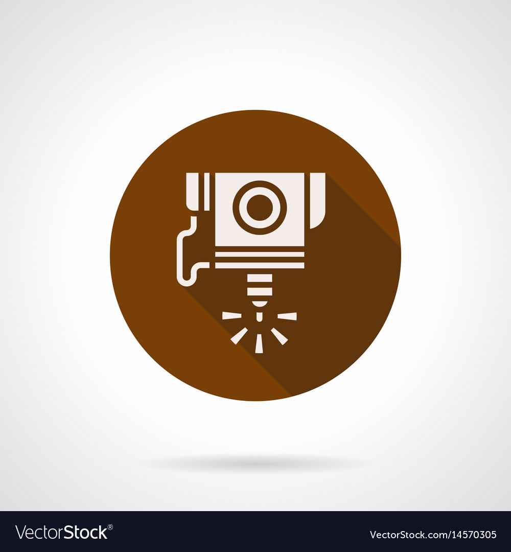 High precision cnc laser flat round icon vector image