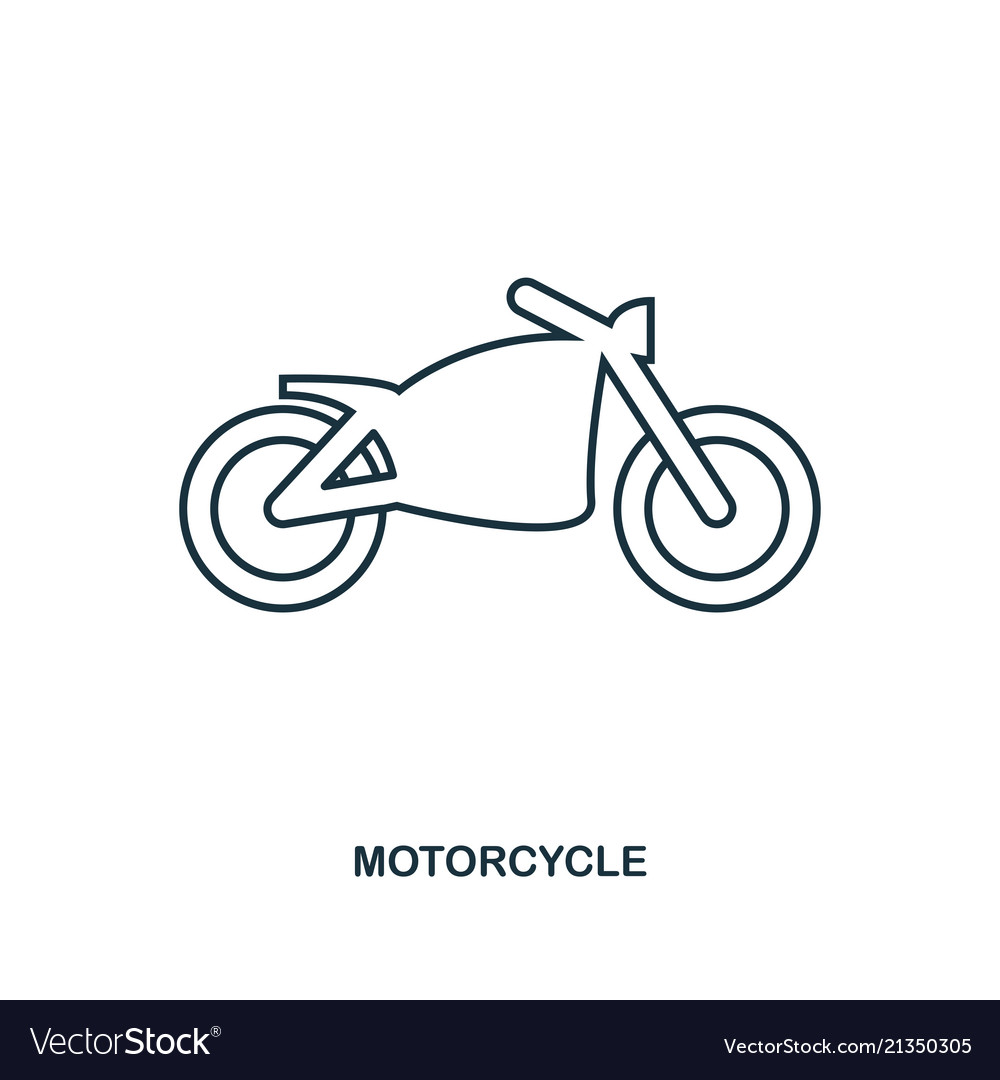 Motorcycle icon outline style icon design ui