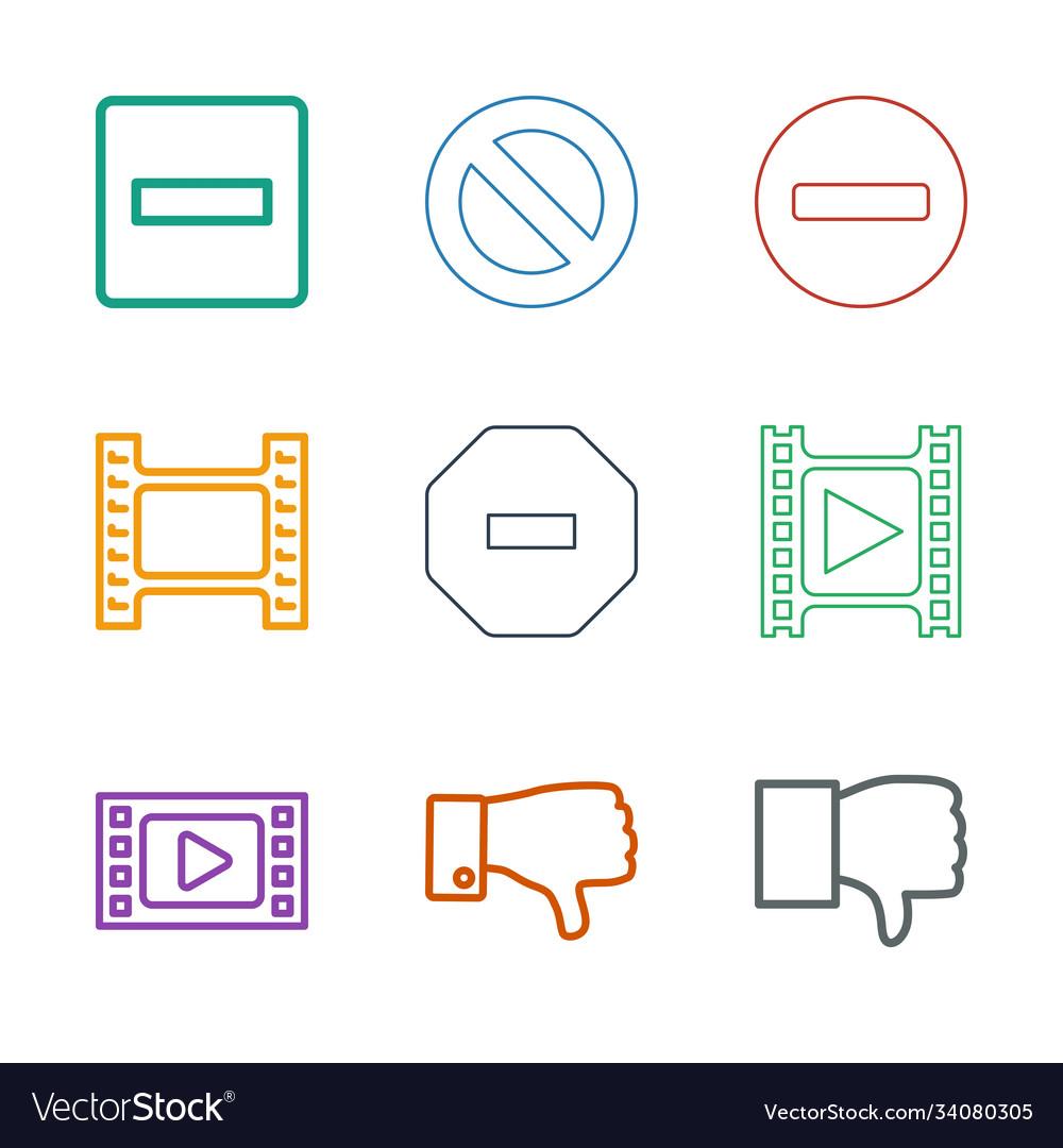 Negative icons