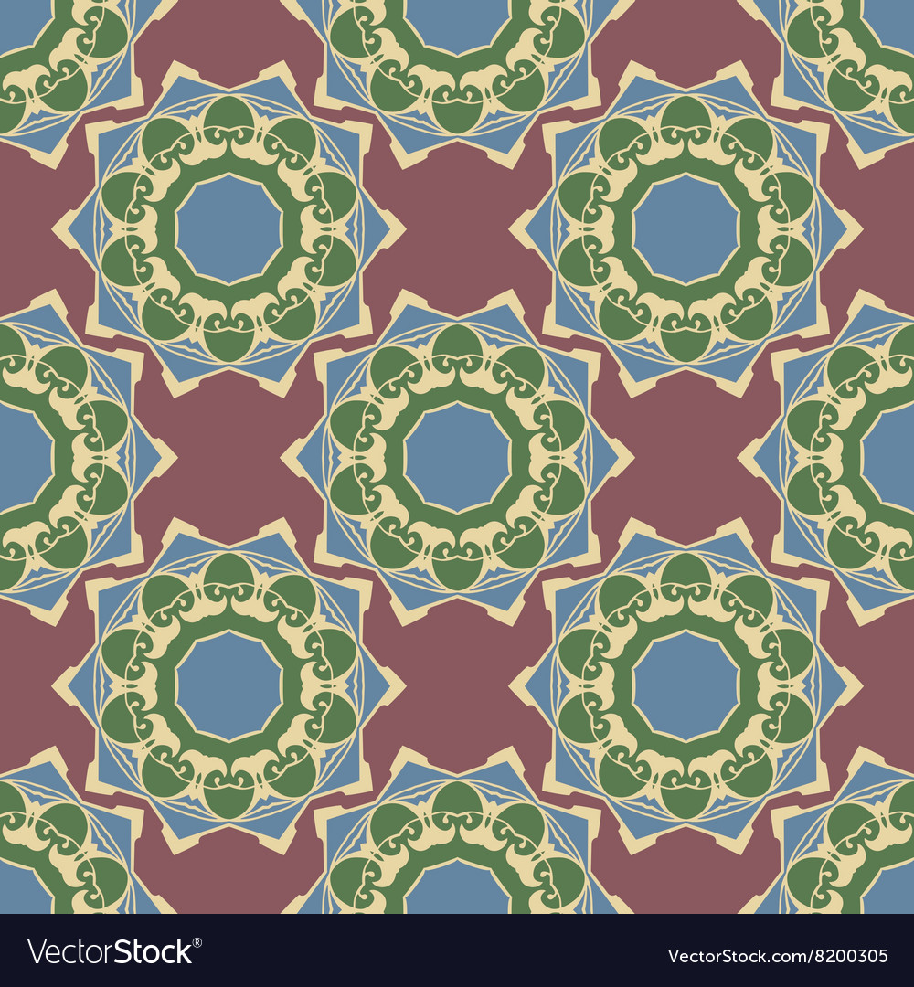 Ornament boho chic Seamless background vector image