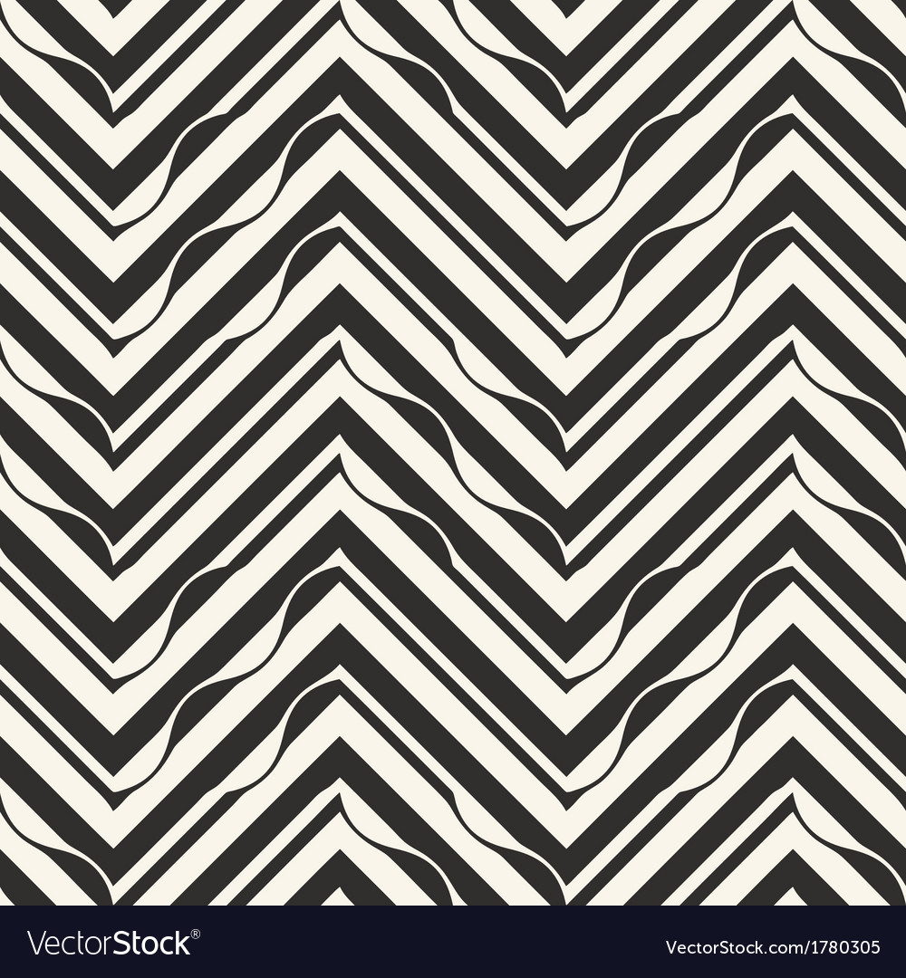 ornate petals chevron print template royalty free vector