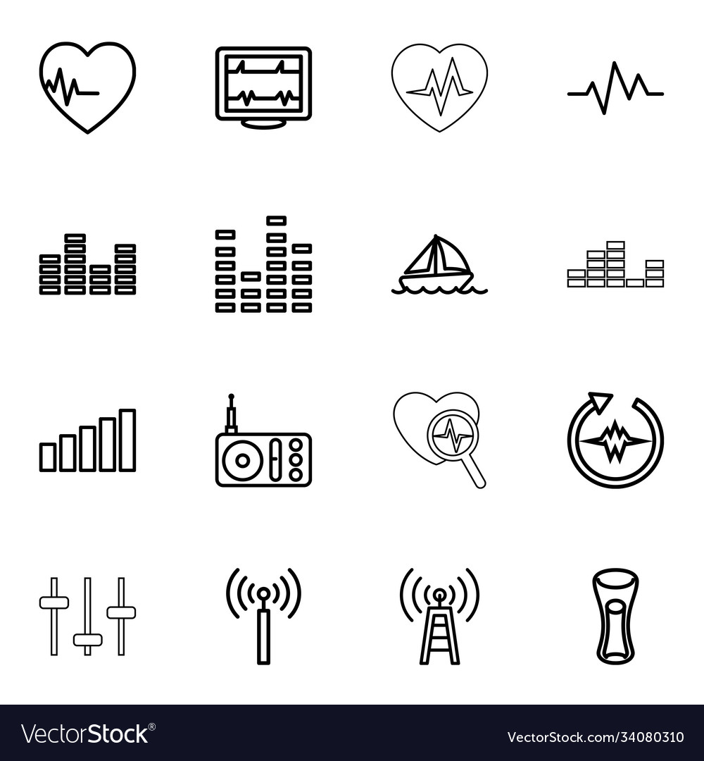 16 wave icons