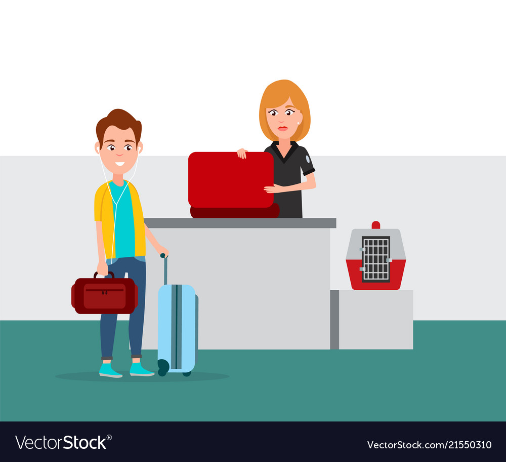 Airport baggage security check