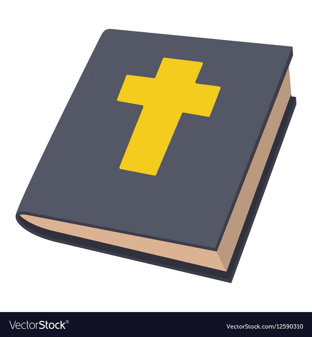Bible icon cartoon style