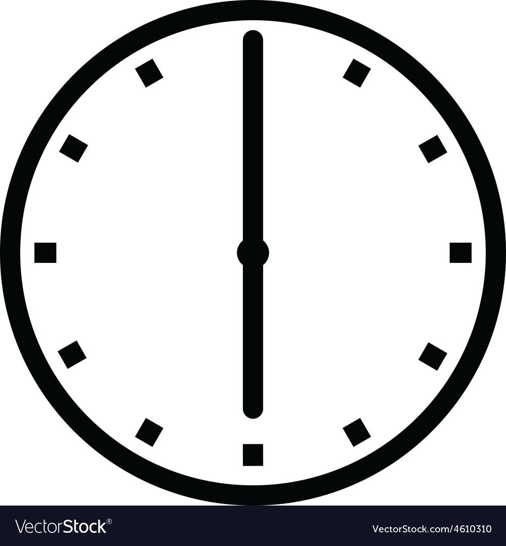 clock 6 royalty free vector image vectorstock rh vectorstock com clock free vector download roman clock free vector