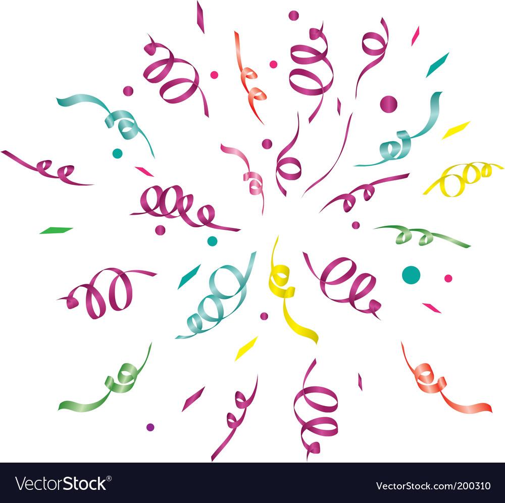 Confetti light background vector image
