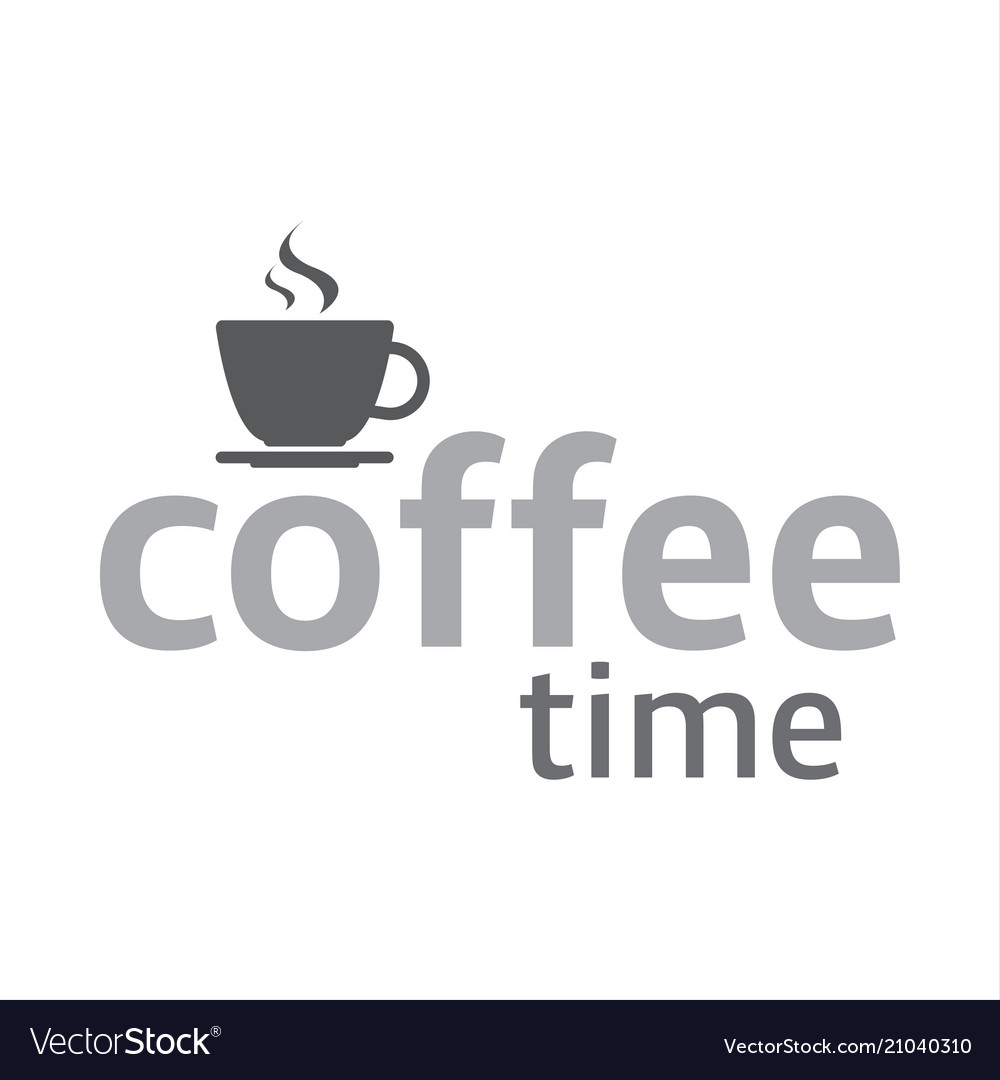 Cup of coffee coffee time logotype