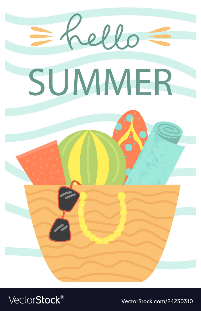 Cute poster of summertime