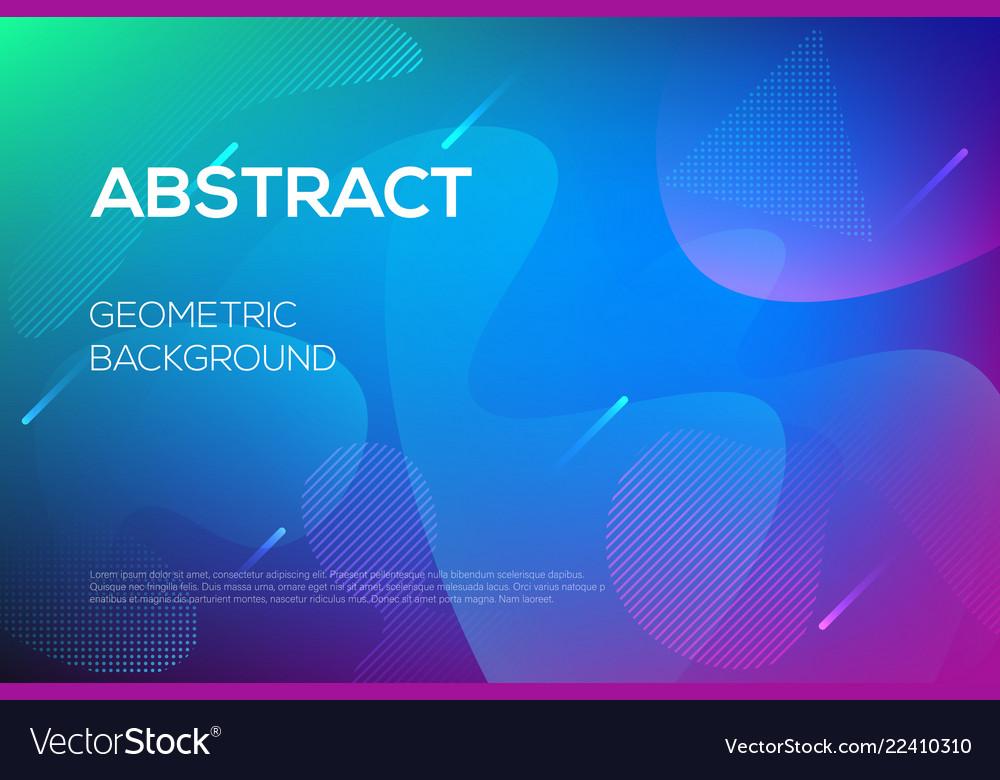 Modern dynamic futuristic web design template