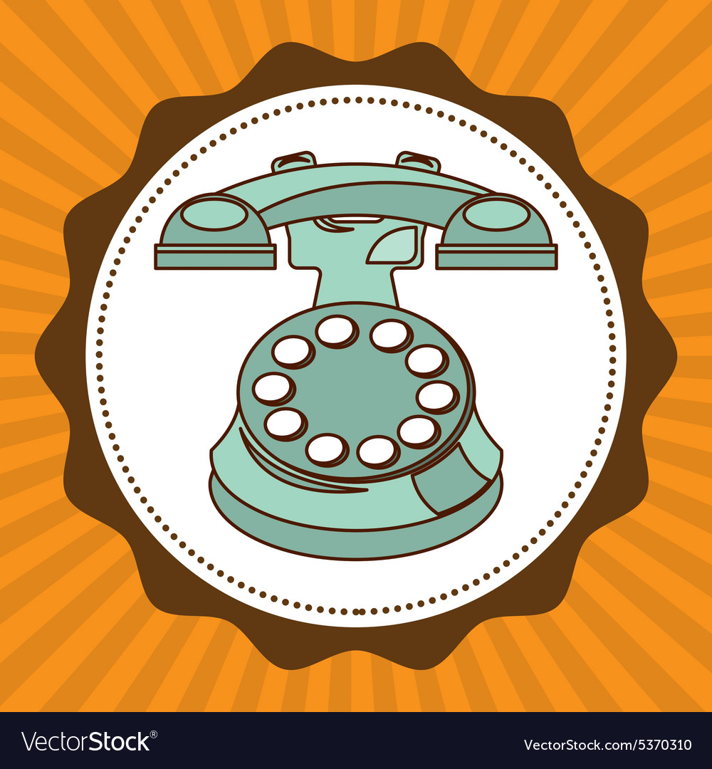 Old device vector image