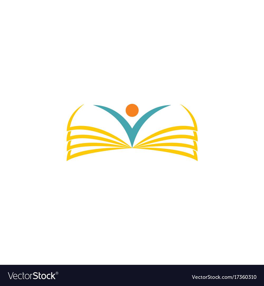 Open book school logo