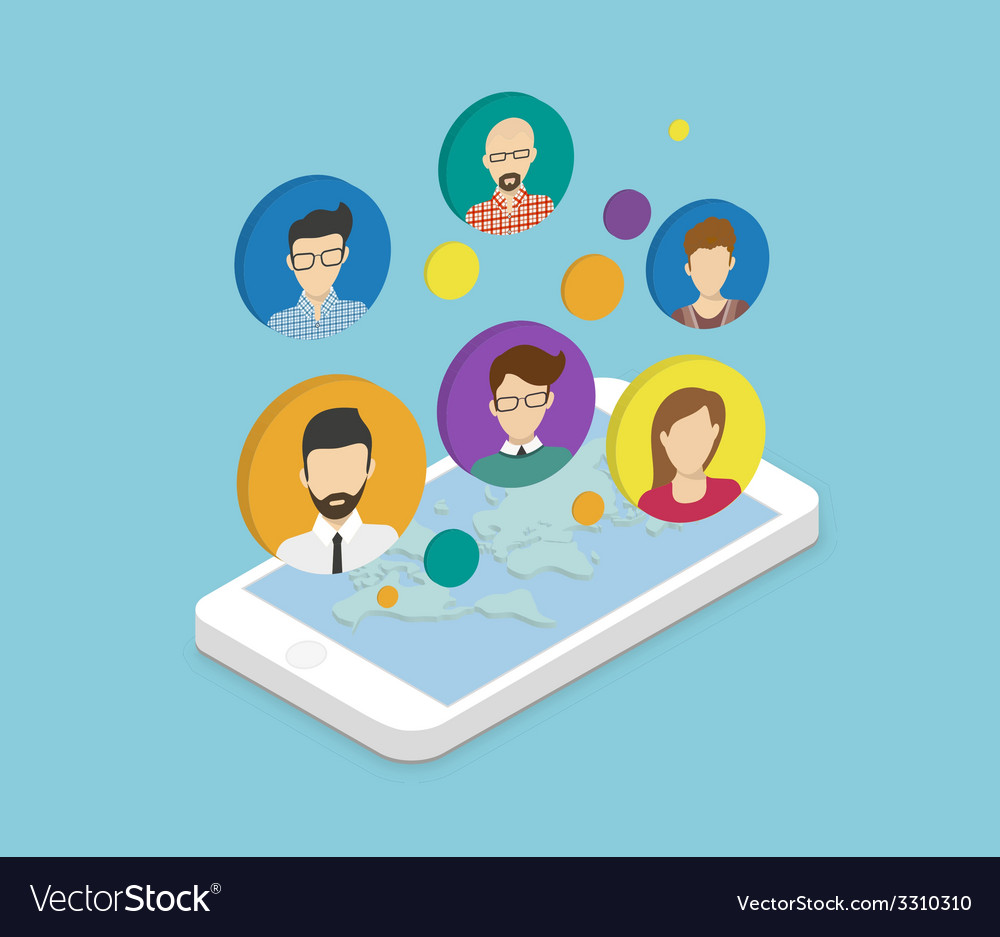 People communication via smartphone app