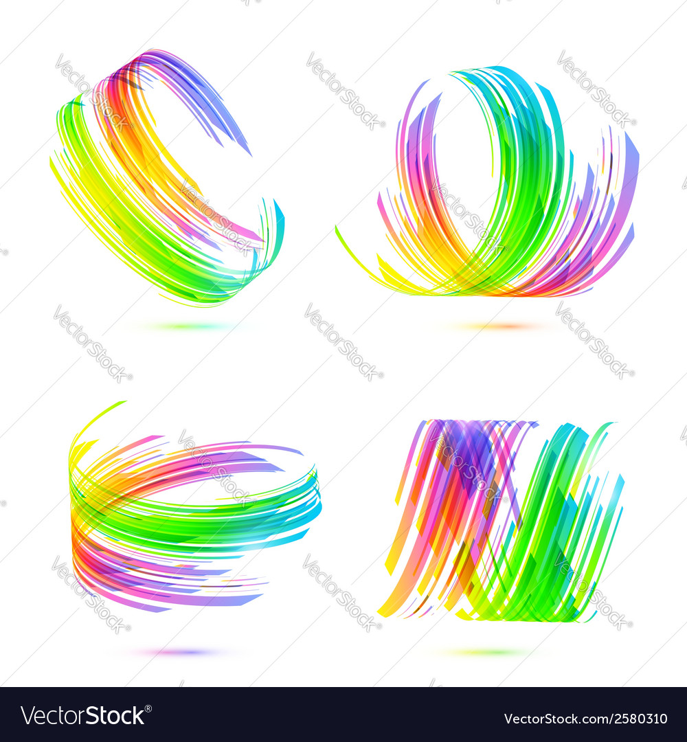Rainbow colors abstract backgrounds set