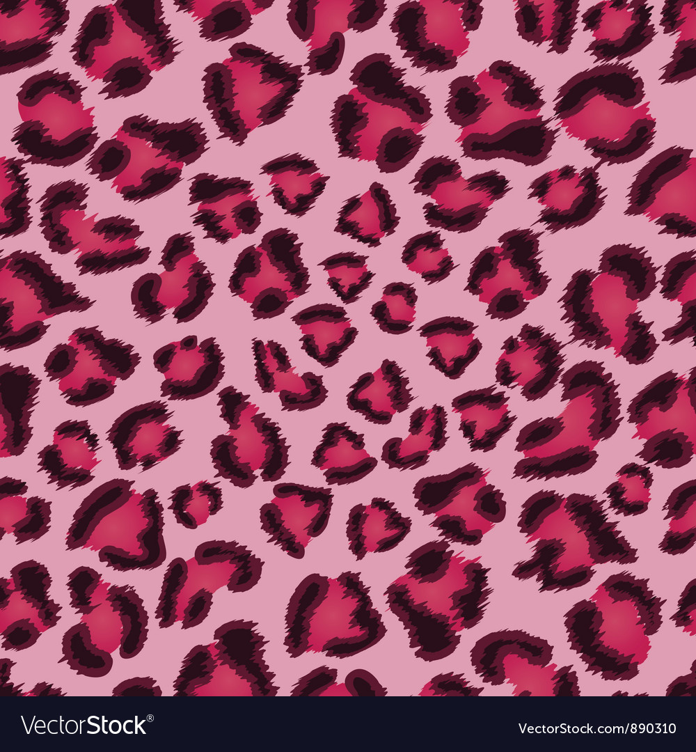 Seamless pink leopard texture pattern vector image