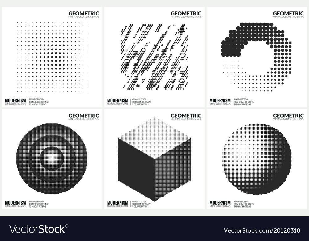 Universal halftone geometric shapes for design