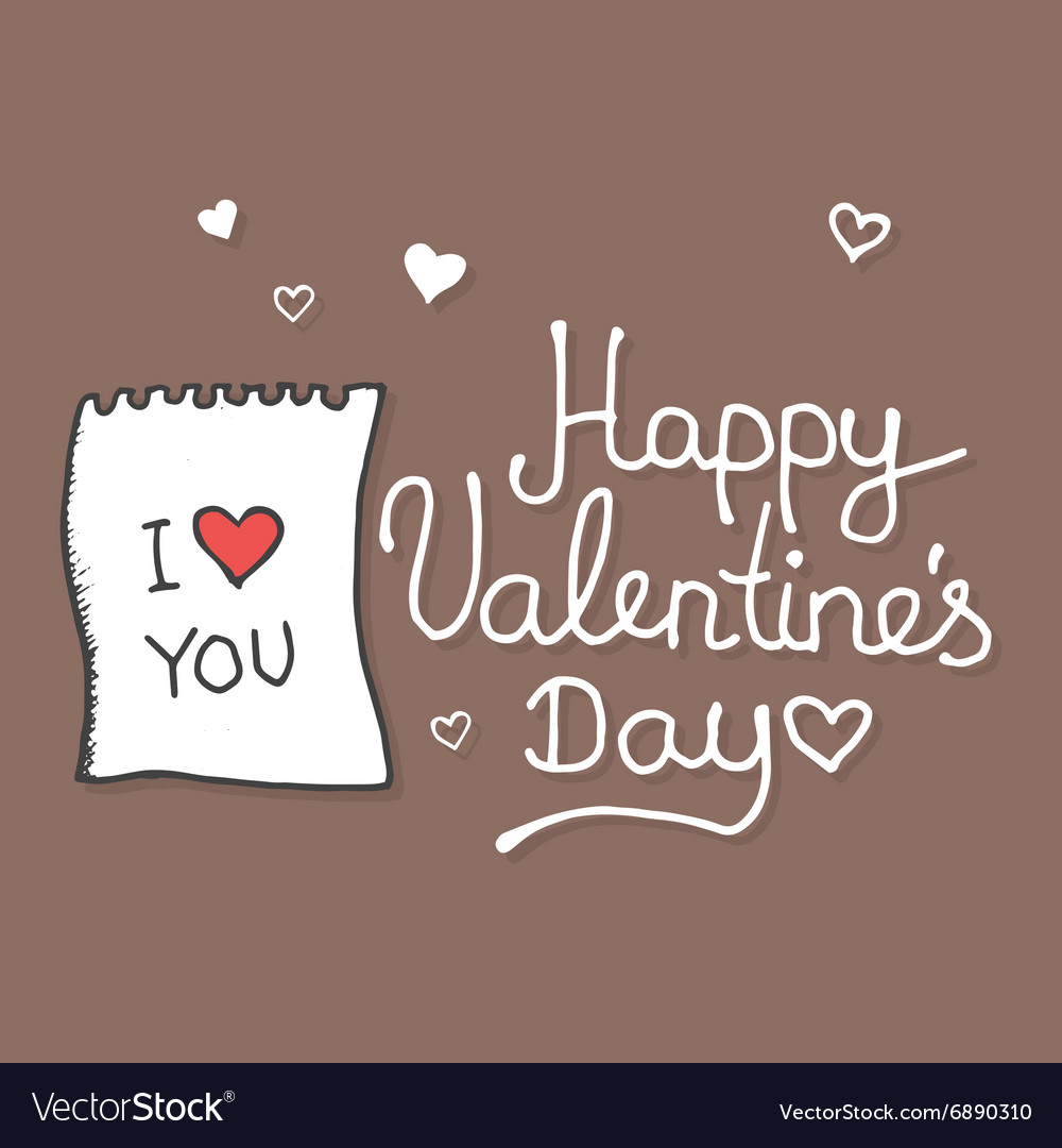 Valentines Hand drawn doodles and design elements vector image