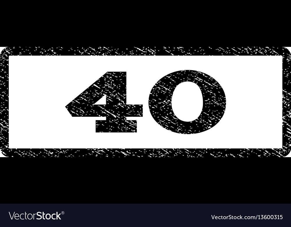 40 watermark stamp