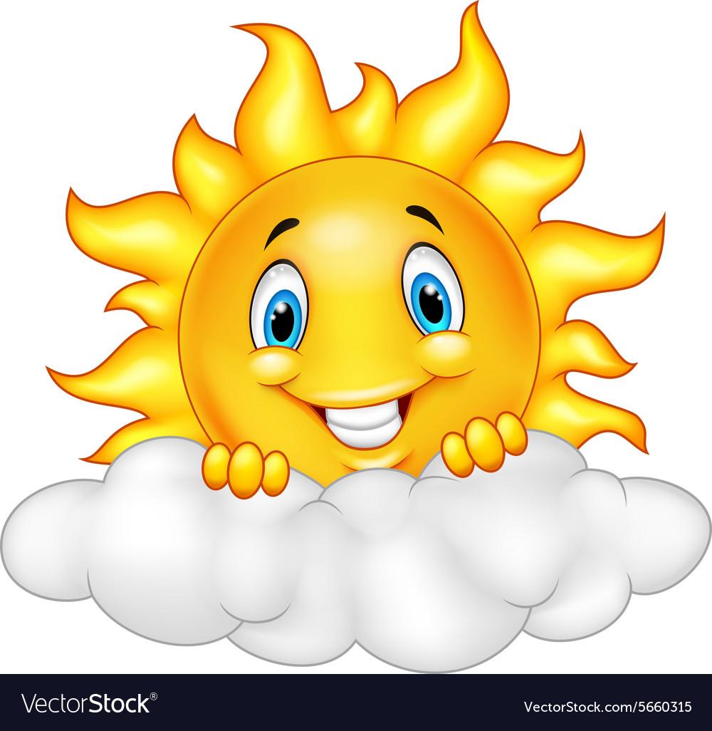 Smiling Sun Cartoon Mascot Character Royalty Free Vector