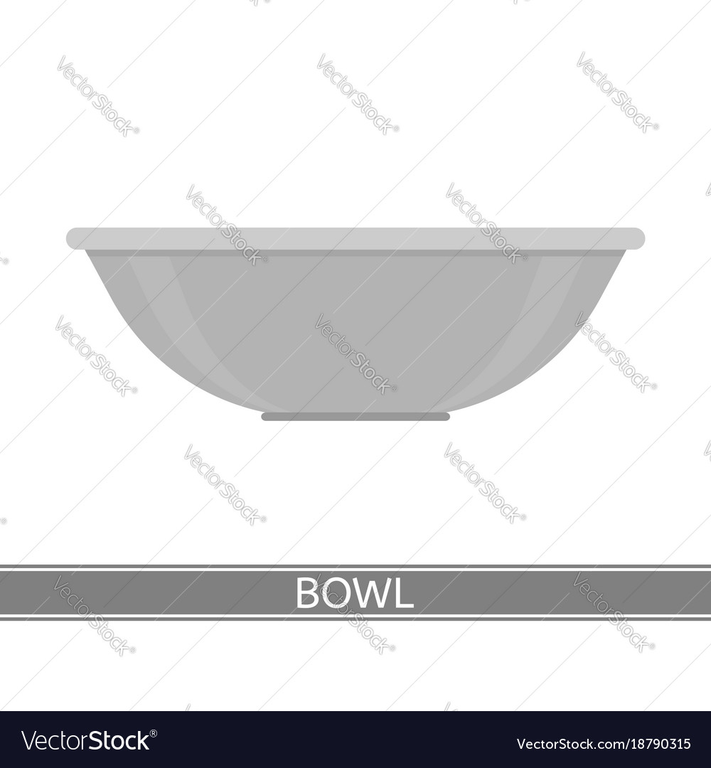 Steel bowl icon vector image
