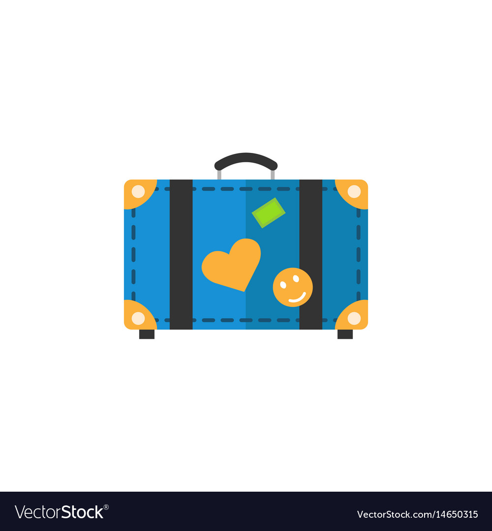 Travel bag flat icon travel tourism vector image