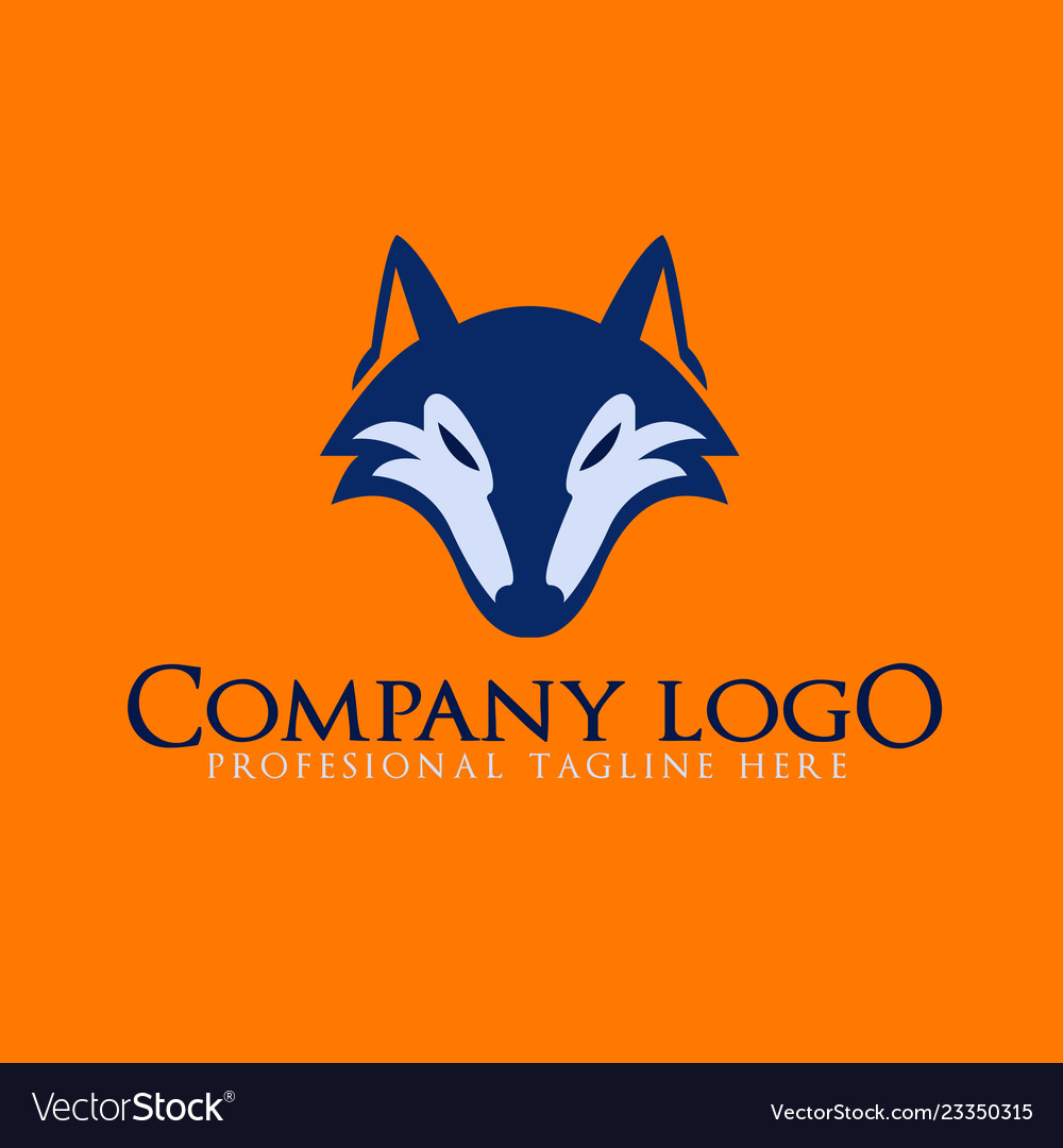 Wolf Abstract Template Logo Design Royalty Free Vector Image