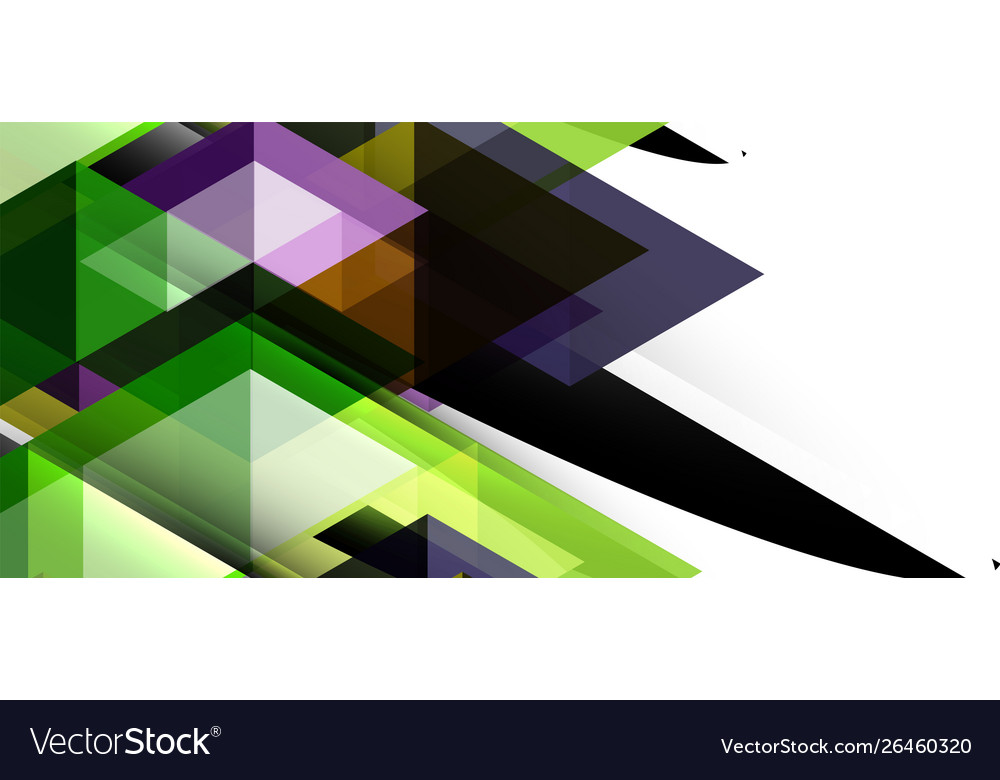 Abstract concept triangle graphic element