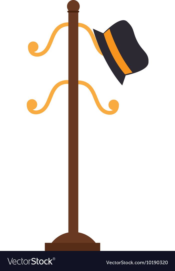 Coat rack hat cloathing icon graphic