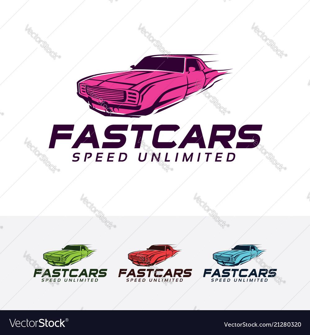 Fast car logo design