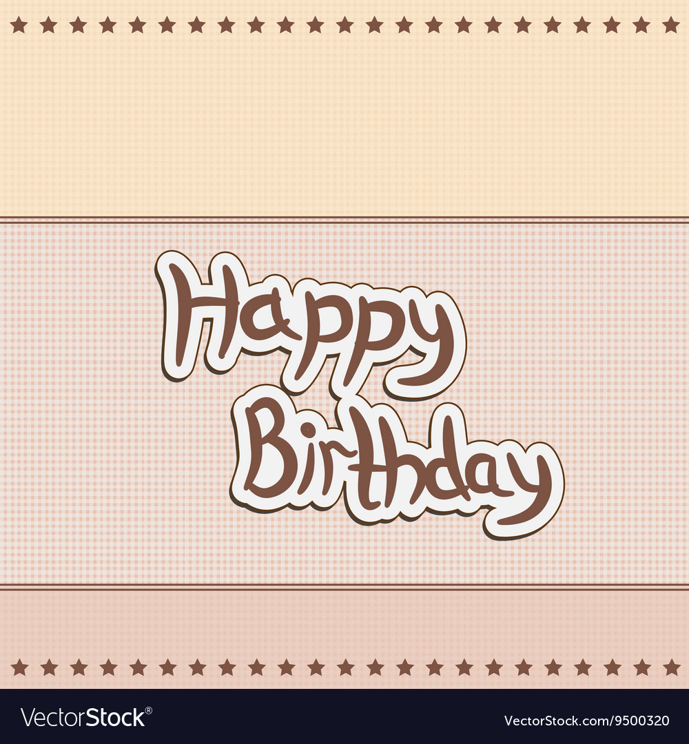 Greeting Card Greetings Happy Birthday Royalty Free Vector
