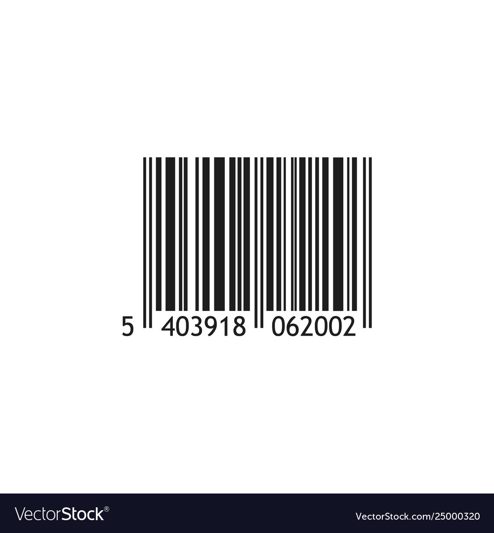 Realistic barcode isolated on white background