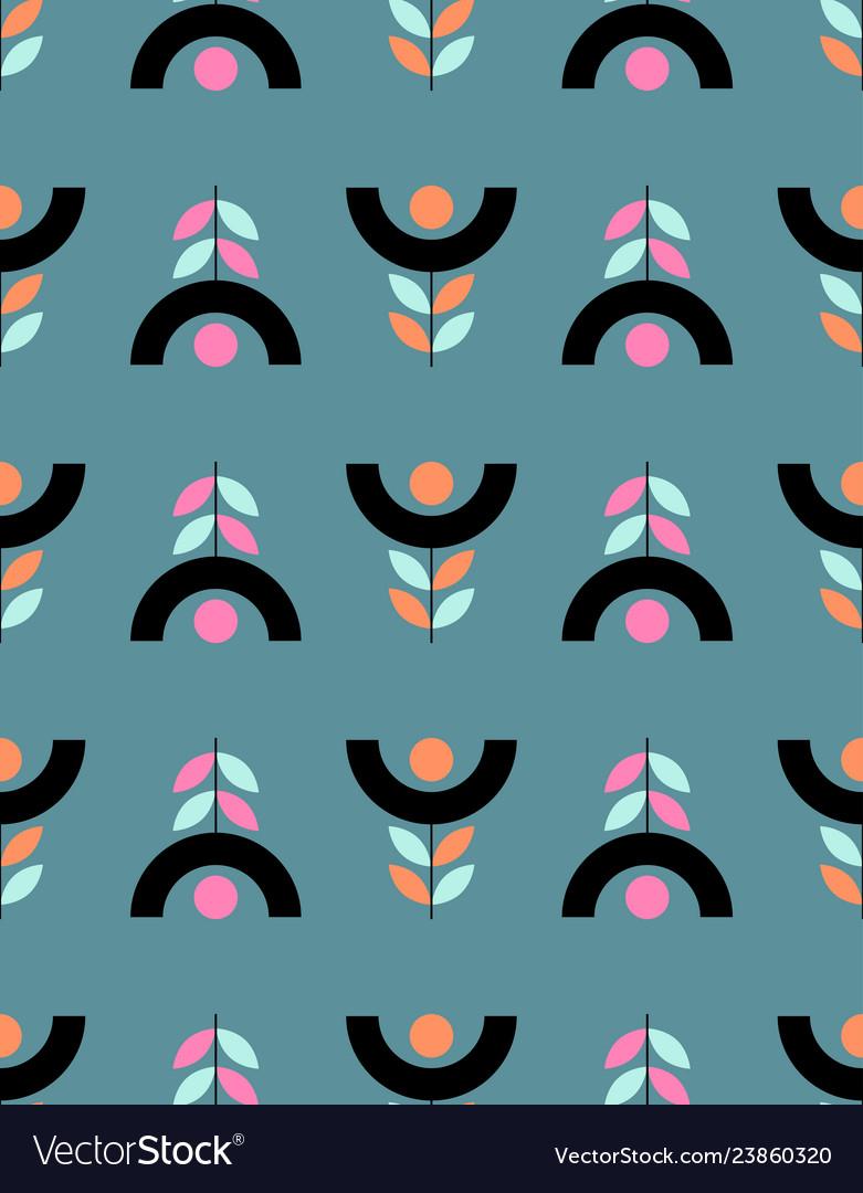 Seamless floral pattern in scandinavian style