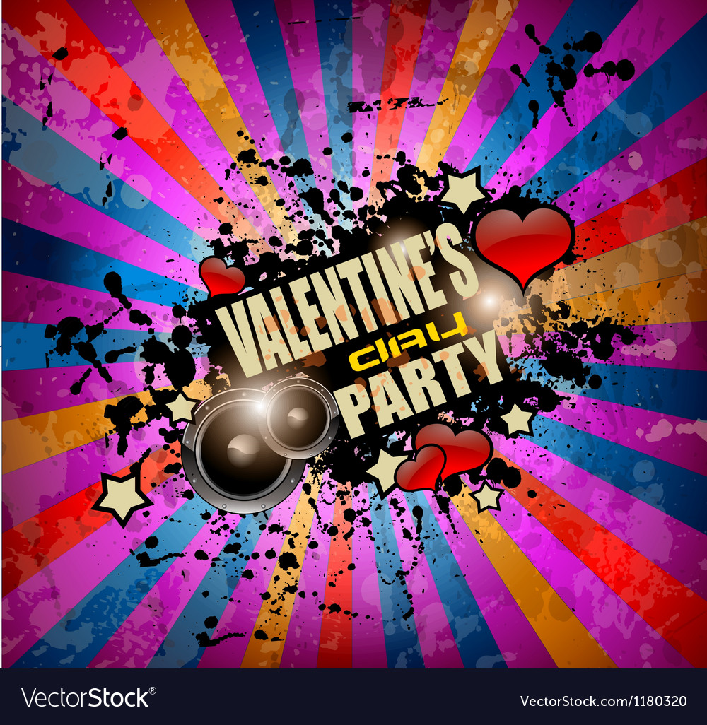 valentines day party flyer background royalty free vector
